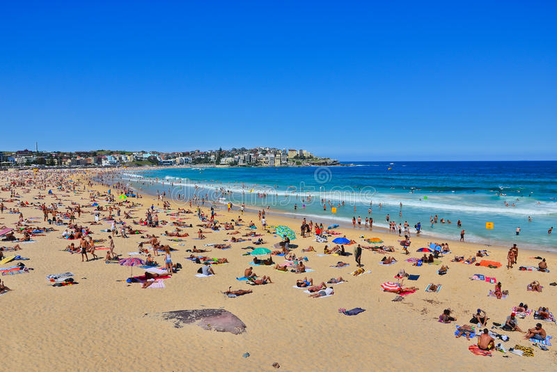 Lato przy Bondi plażą, Sydney, Australia zdjęcia stock