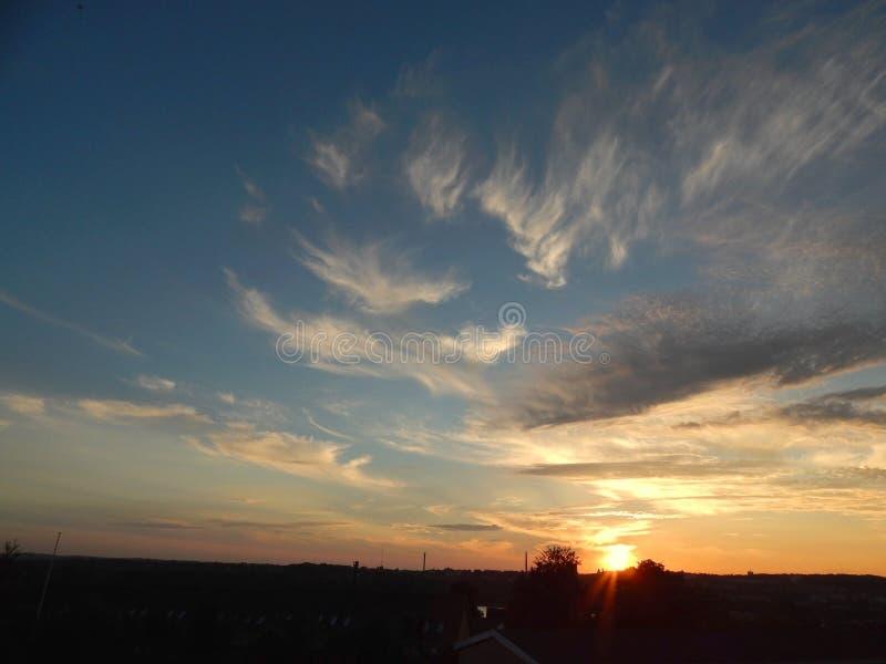 Lato przychodzi końcówka w późnym sierpniu ale wciąż są jaskrawy Aalborg wieczór, Dani obraz stock