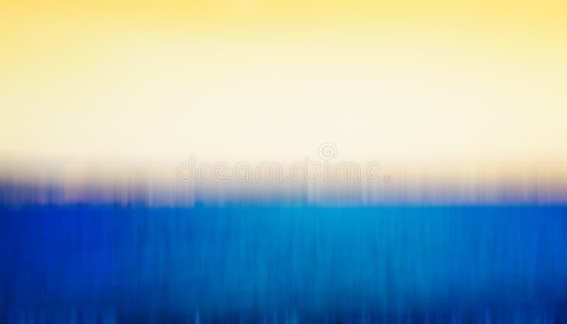 Lato raju plaża w Nahariya, Izrael Abstrakcjonistyczny ruch plamy skutek obrazy royalty free