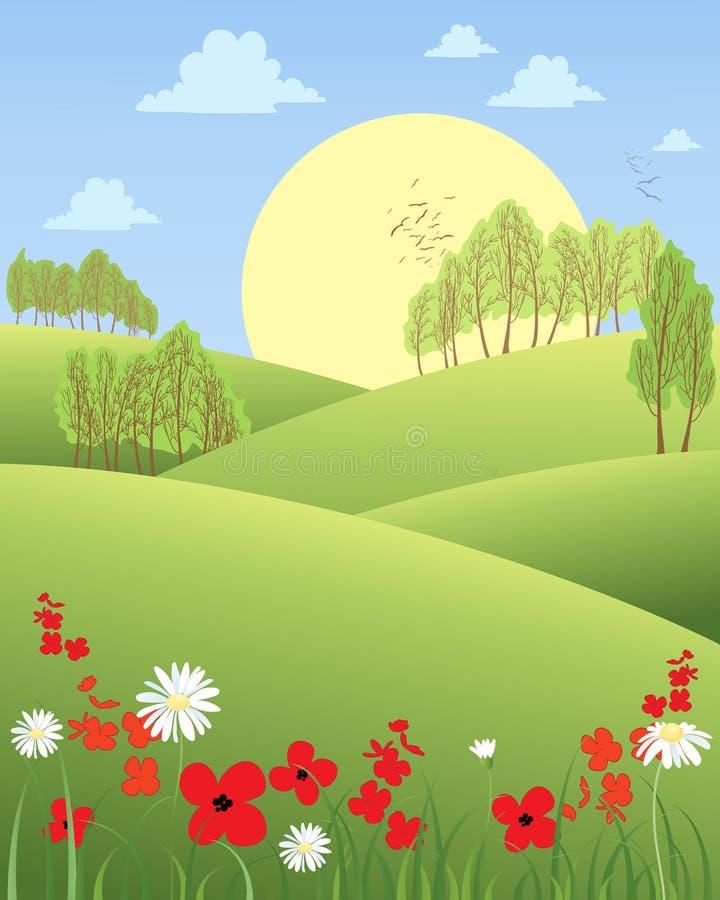 Lato ranek ilustracja wektor