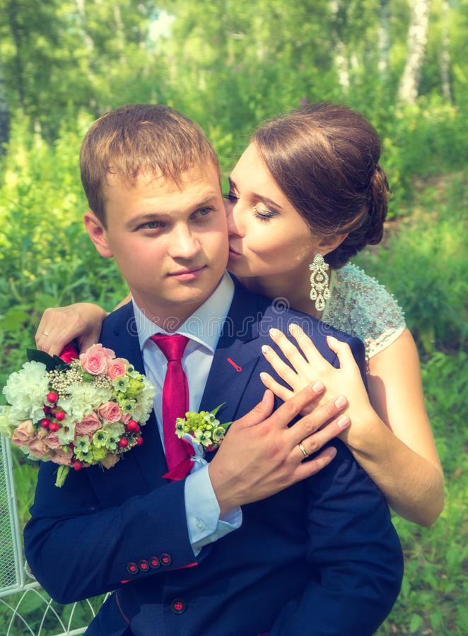 Lato romantyczny ślub w Provence stylu fotografia royalty free