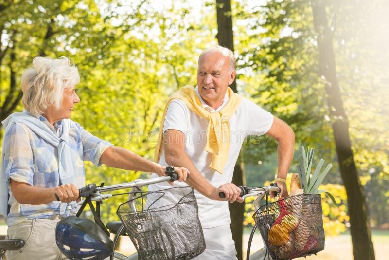 Lato rowerowa wycieczka zdjęcia royalty free