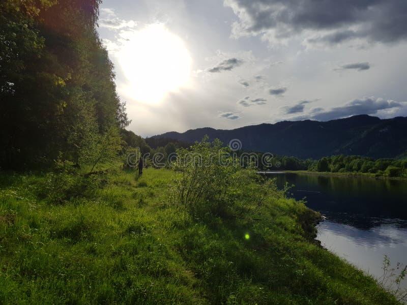Lato rzeką zdjęcia royalty free