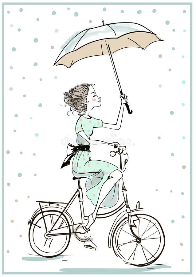 lato słodkie dziewczyny royalty ilustracja