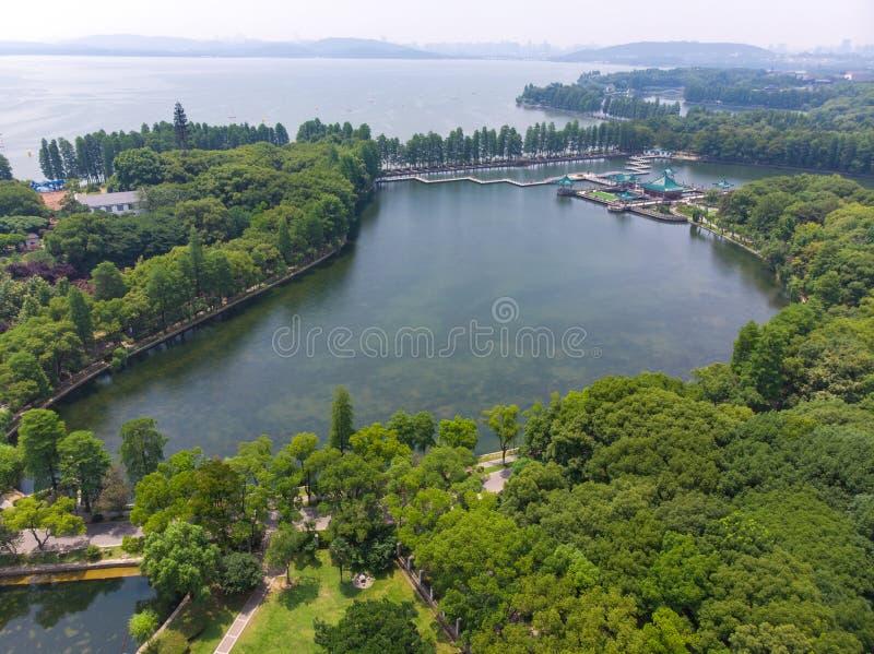 Lato sceneria Wuhan Wschodni Jeziorny Sceniczny punkt obraz royalty free