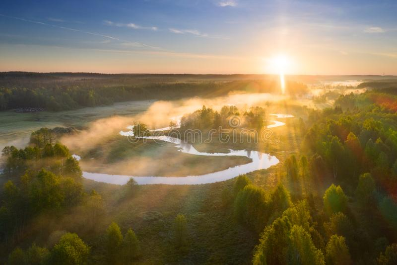 Lato sceniczny krajobrazu fotografia royalty free