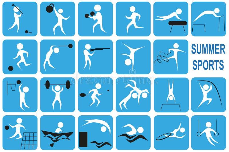 Lato sporty royalty ilustracja
