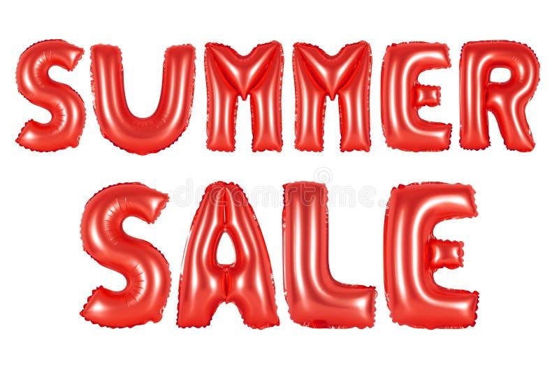 Lato sprzedaż, czerwony kolor ilustracja wektor