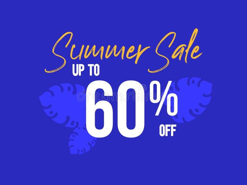 Lato sprzedaż do 60 procentów z plakata ilustracja wektor