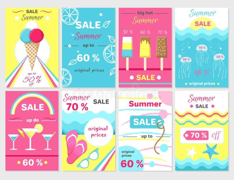 Lato sprzedaż Do 70 Promocyjnych plakatów Ustawiających ilustracji