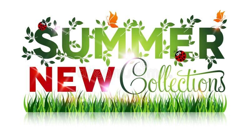 Lato sprzedaży nowe kolekcje plakatowe ilustracja wektor