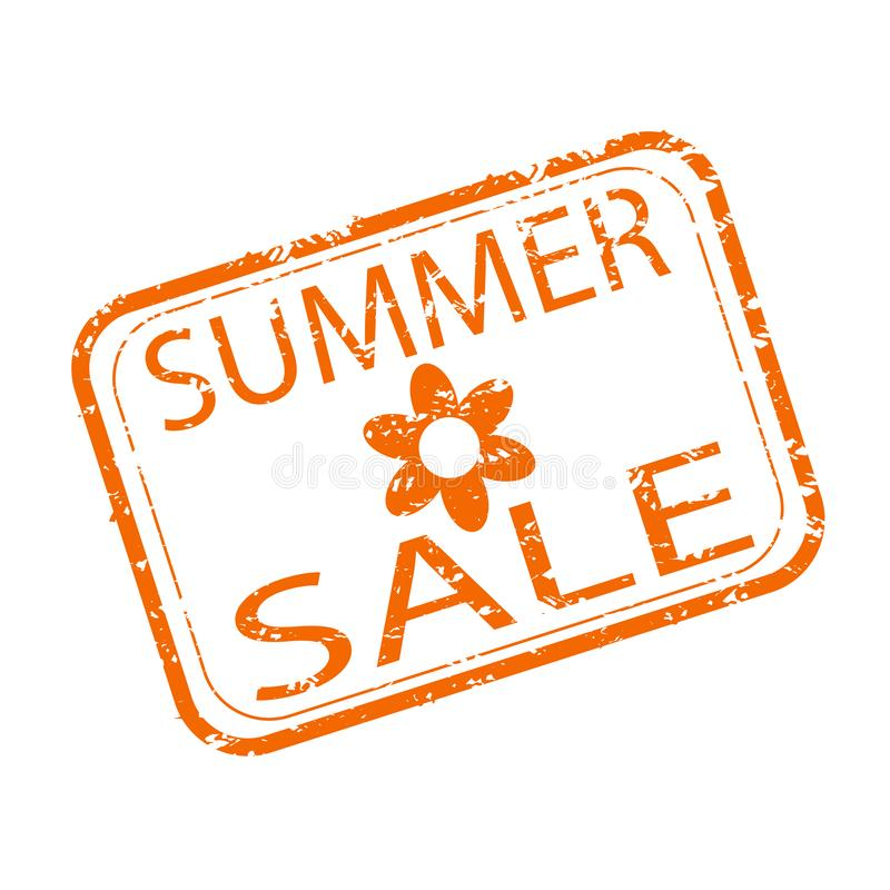 Lato sprzedaży pieczątki projekt Robić zakupy sezonowego rabat ilustracji