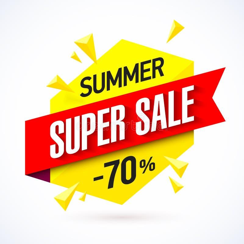 Lato sprzedaży super sztandar royalty ilustracja