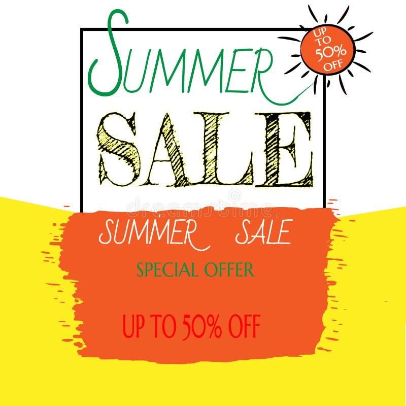 Lato sprzedaży szablonu sztandar ilustracji