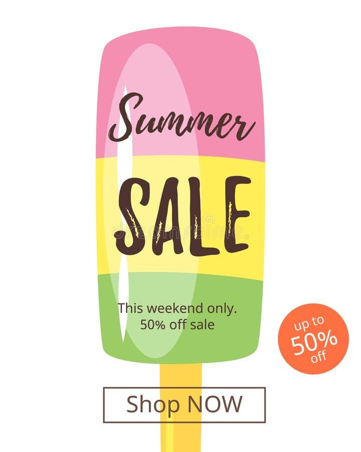 Lato sprzedaży sztandar ilustracja wektor