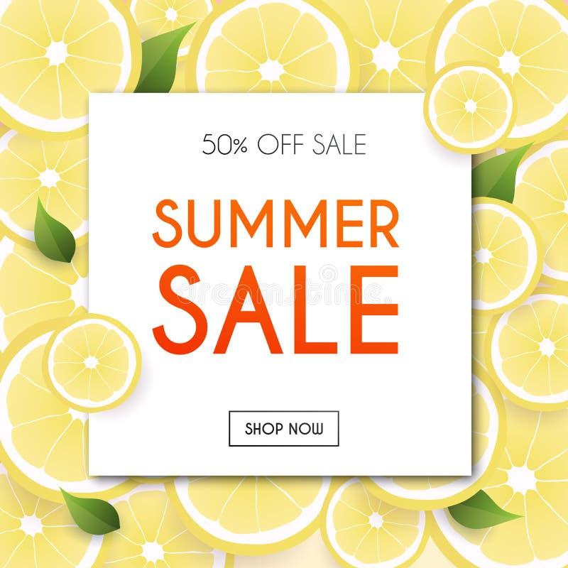 Lato sprzedaży sztandar Plakat, ulotka, wektor ilustracji