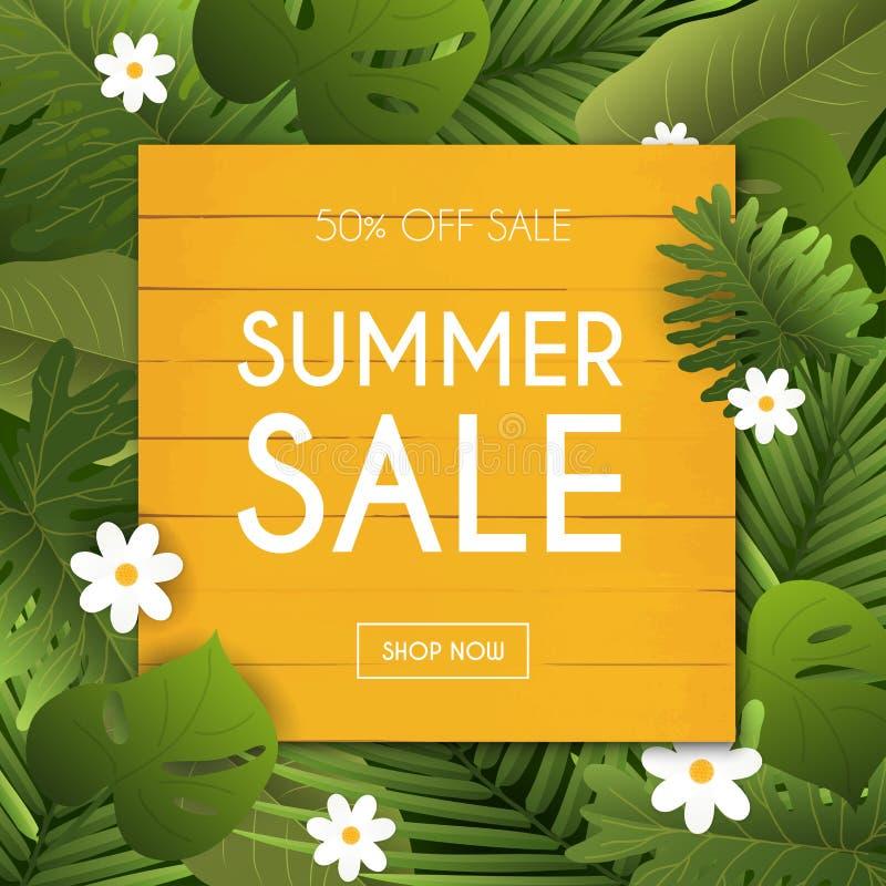 Lato sprzedaży sztandar Plakat, ulotka, wektor royalty ilustracja