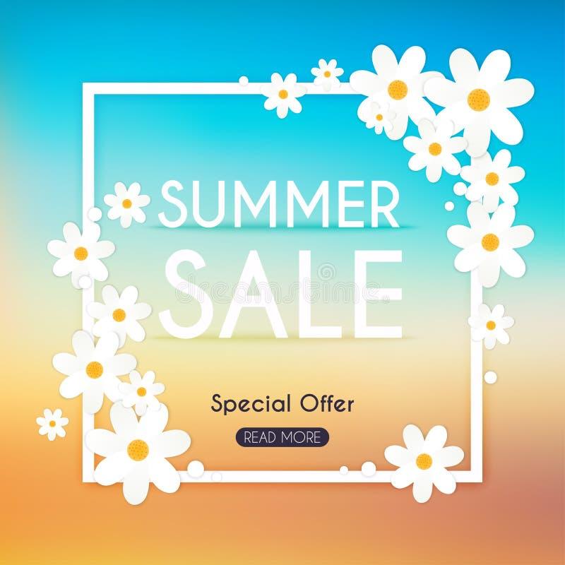 Lato sprzedaży sztandar Sprzedaż plakat, sprzedaży ulotka, sprzedaż wektor ilustracja wektor