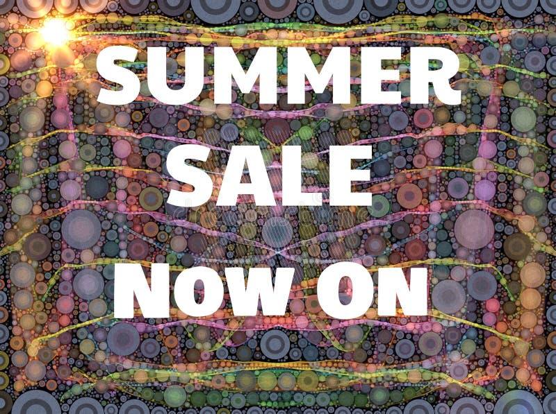 Lato sprzedaży znak z słońcem ilustracja wektor