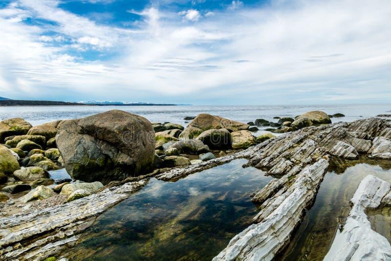 Lato sud del punto della scopa, Gros, Morne, Terranova, Canada fotografia stock libera da diritti
