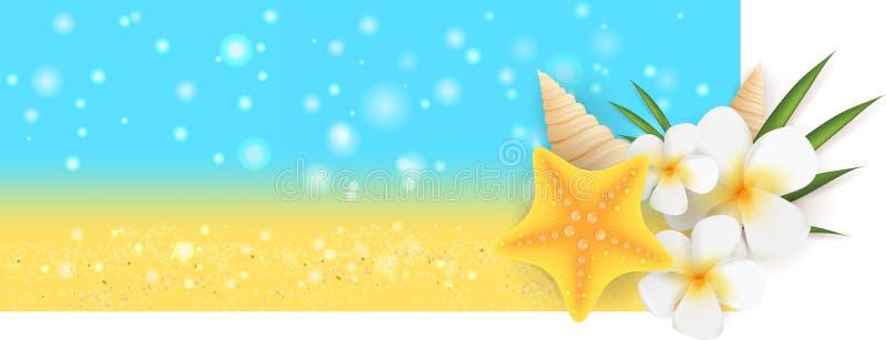 Lato sztandar ilustracji