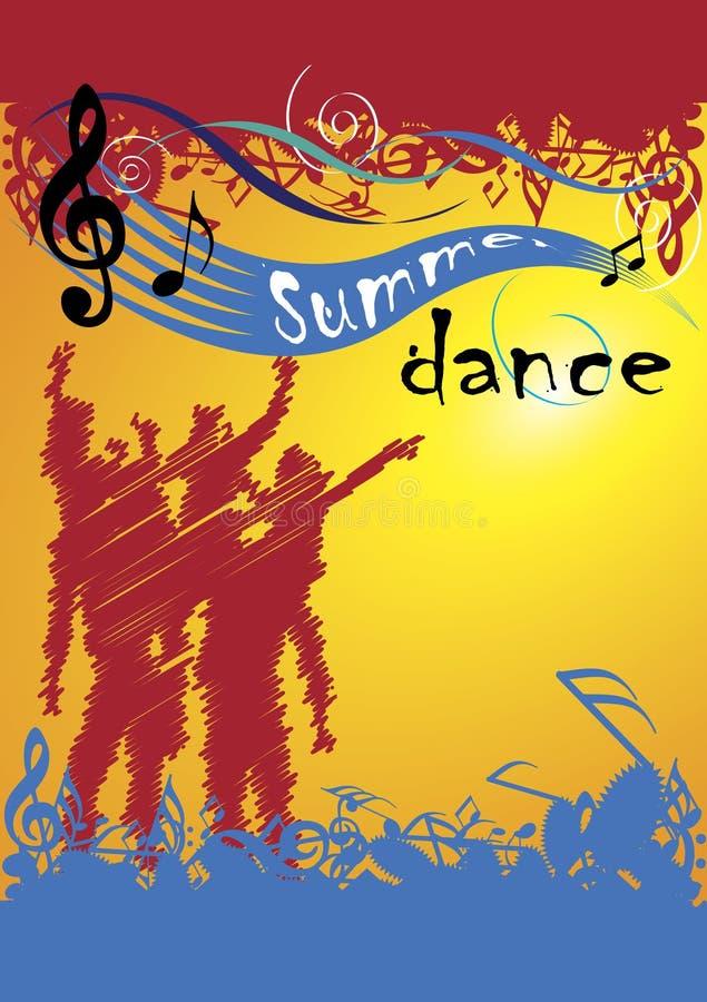 Lato taniec royalty ilustracja