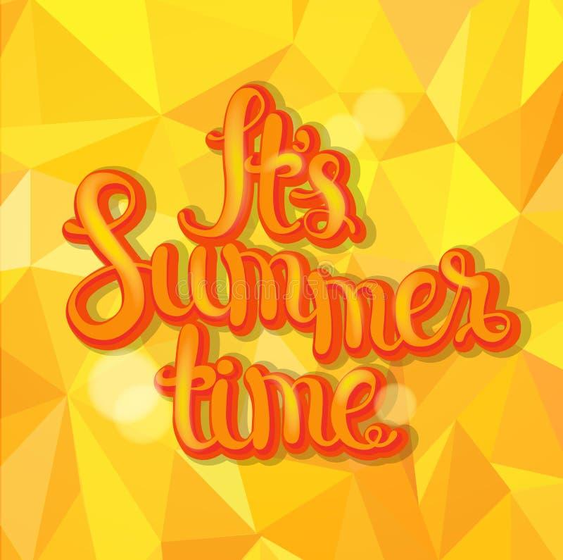 Lato trójboka tło ilustracja wektor