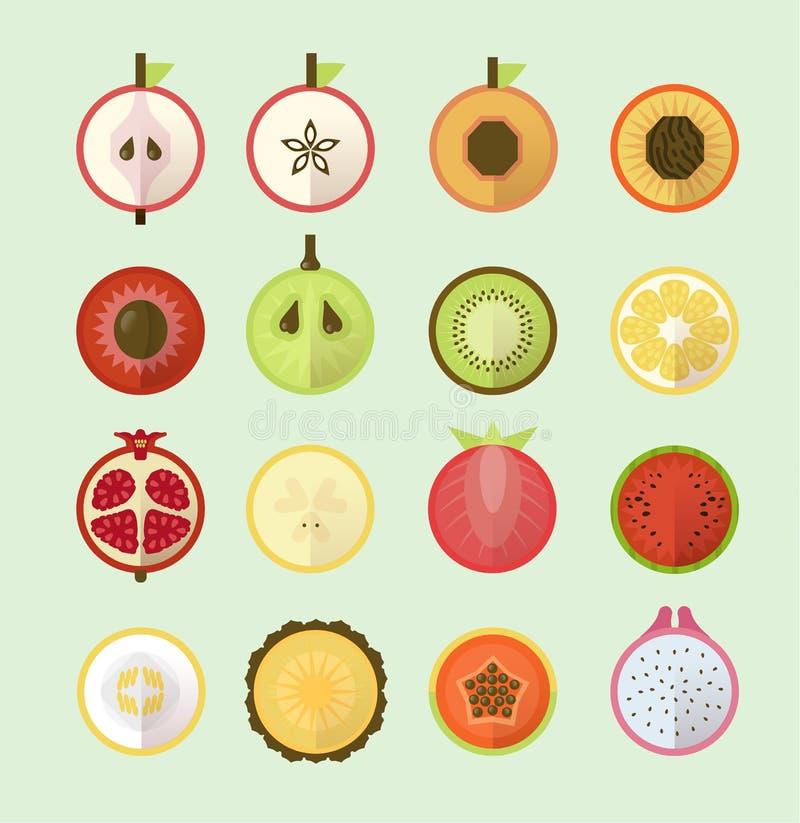 Lato tropikalne owoc w pastelowych kolorach royalty ilustracja