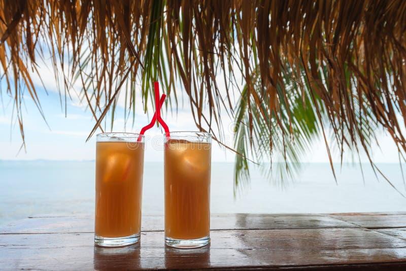 Lato tropikalny odświeża koktajli/lów napoje fotografia stock