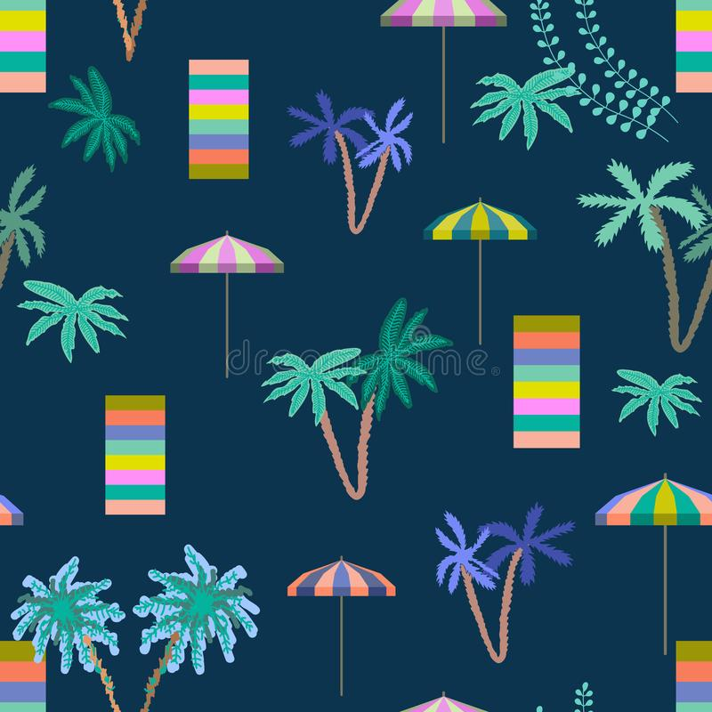Lato Tropikalny wakacje ilustracji