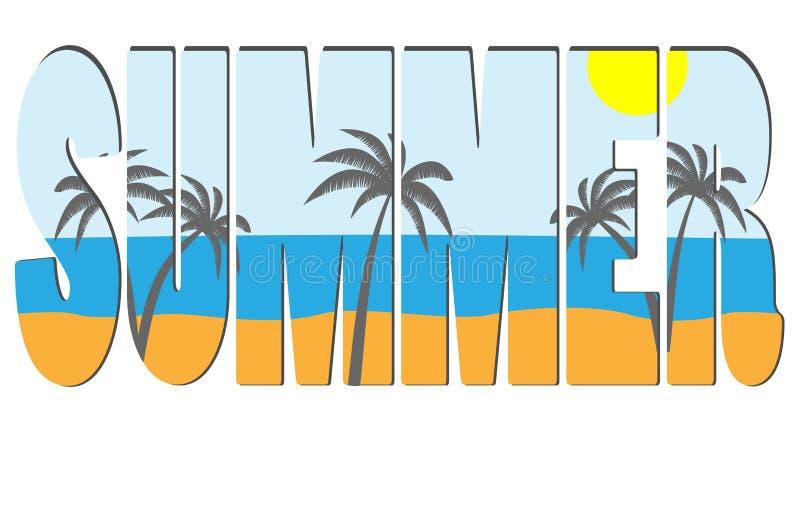 lato tytuł ilustracja wektor