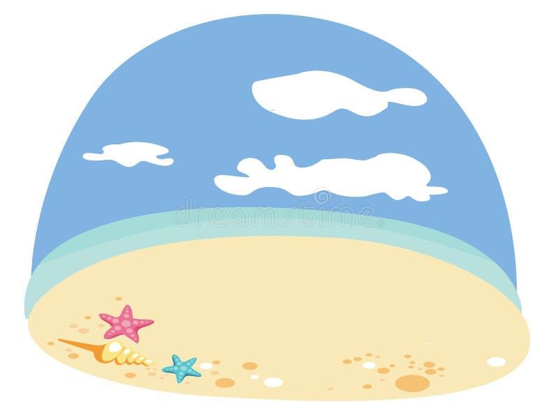 Lato urok i plaże ilustracji