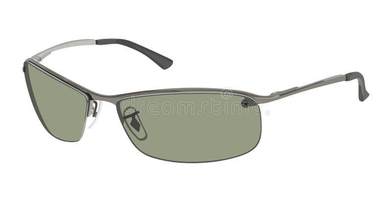 Lato verde degli occhiali da sole illustrazione di stock