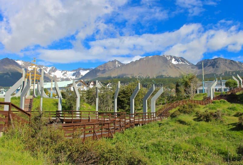 Lato w światowym ` s południowym mieście, Ushuaia obrazy stock