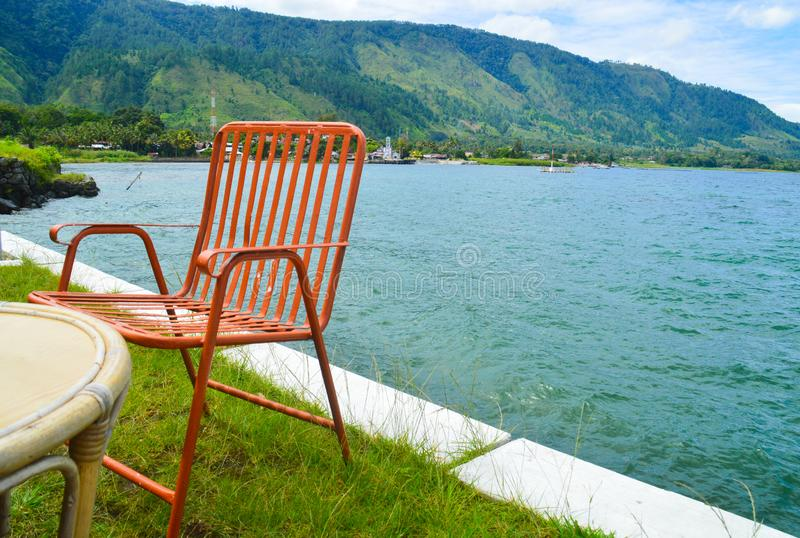 Lato w Jeziornym Toba obraz stock