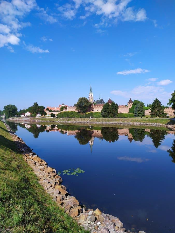 Lato w Nymburk mieście, republika czech zdjęcie royalty free