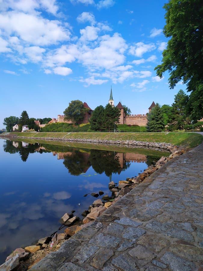 Lato w Nymburk mieście, republika czech zdjęcie stock