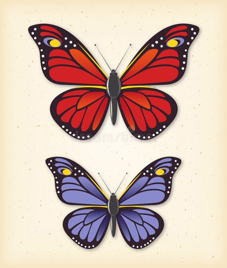 Lato wektoru motyli set ilustracji