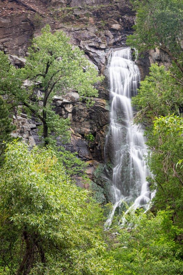 Lato widok Bridal przesłona Spada w Czarnym wzgórze lesie państwowym Południowy Dakota obrazy royalty free