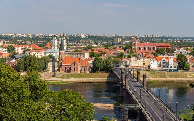 Lato widok Kaunas, Lithuania - obraz royalty free