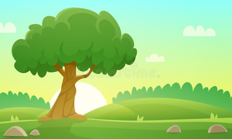 Lato wsi krajobraz ilustracji