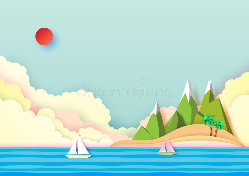 Lato wyspa i podróży pojęcia projekt ilustracja wektor