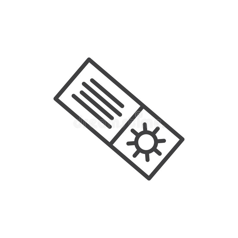 Lato zakupy konturu talonowa ikona ilustracji