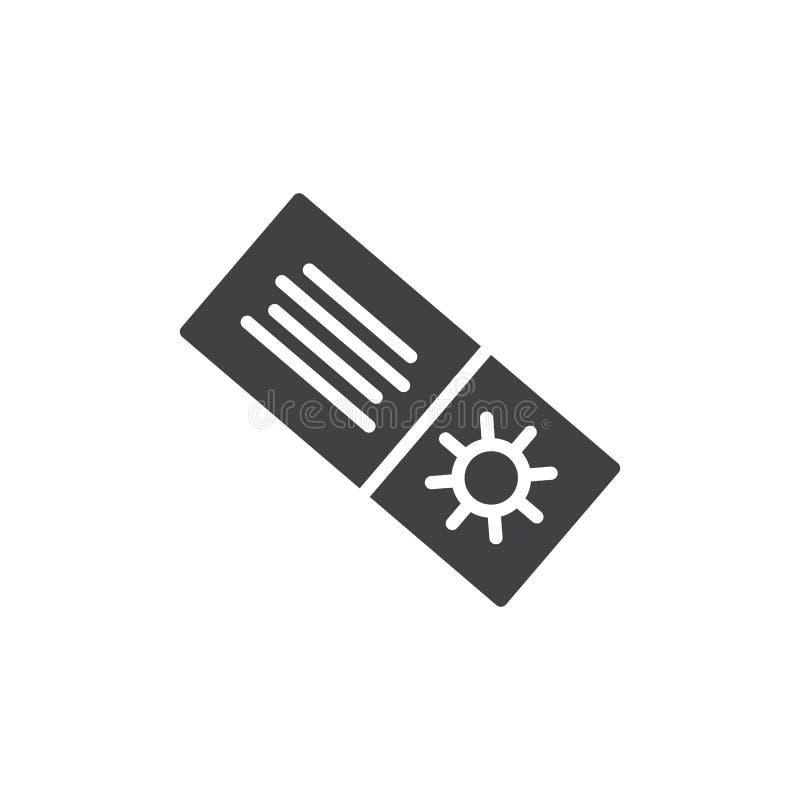 Lato zakupy talonowa wektorowa ikona ilustracja wektor