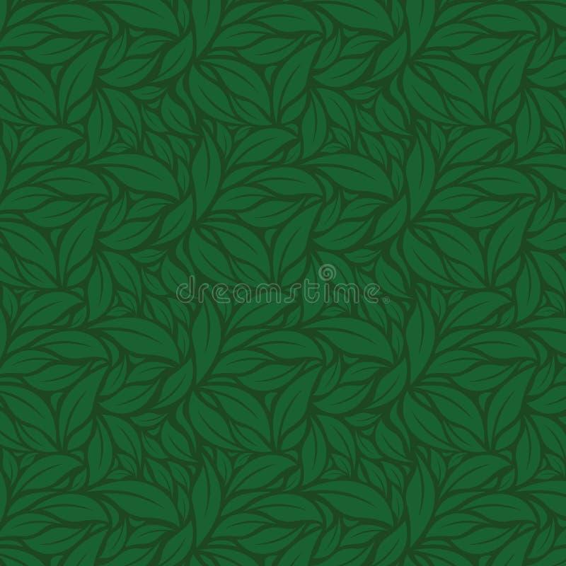 Lato zieleni Liść wektor zieleni wzór royalty ilustracja