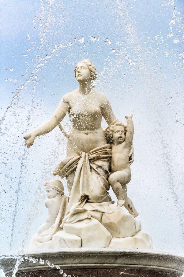 Latona-Brunnen im Schloss Herrenchiemsee stockbild
