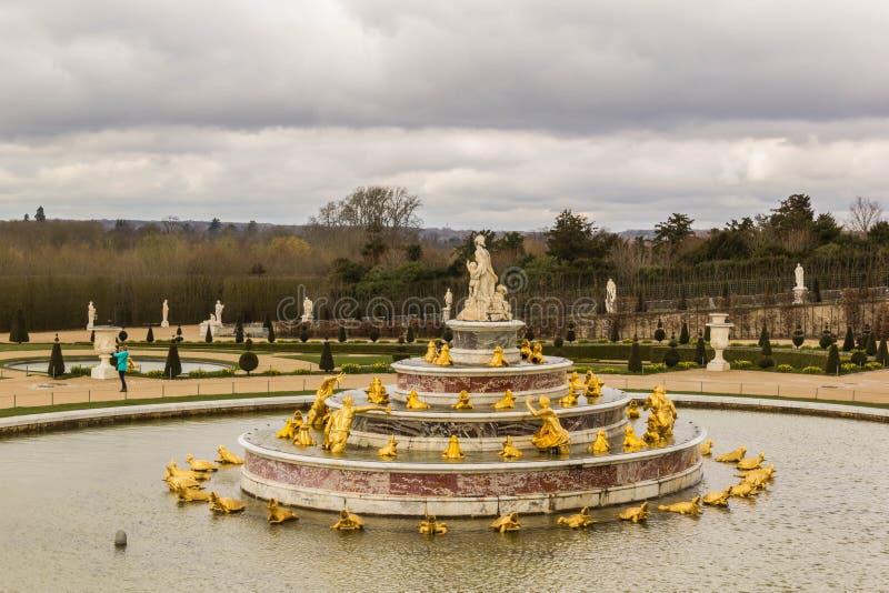 Latona-Brunnen an Versailles-Palast stockfotografie