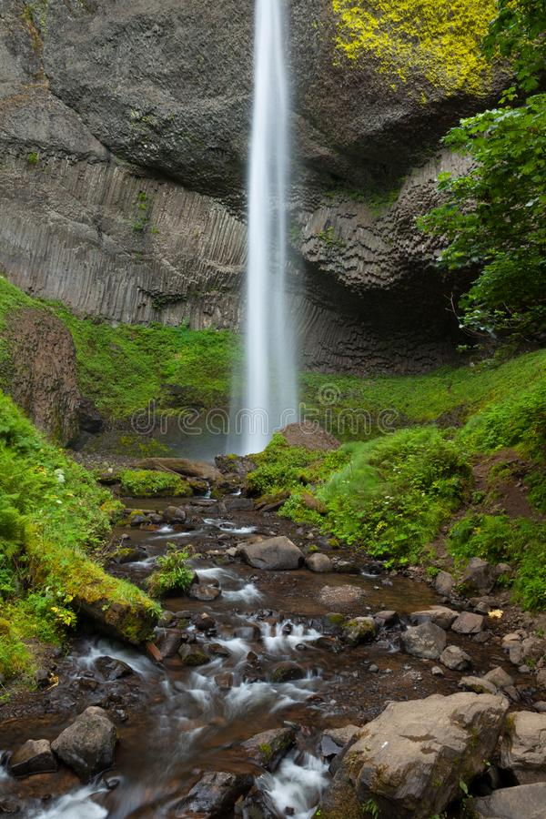 Latourell Falls in the Columbia River Gorge, Oregon royalty free stock images
