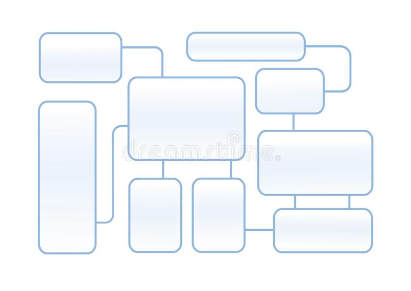 Latout схемы технологического процесса на белой предпосылке иллюстрация вектора