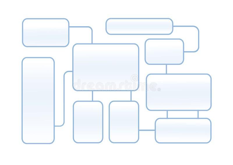 Latout del organigrama en un fondo blanco ilustración del vector